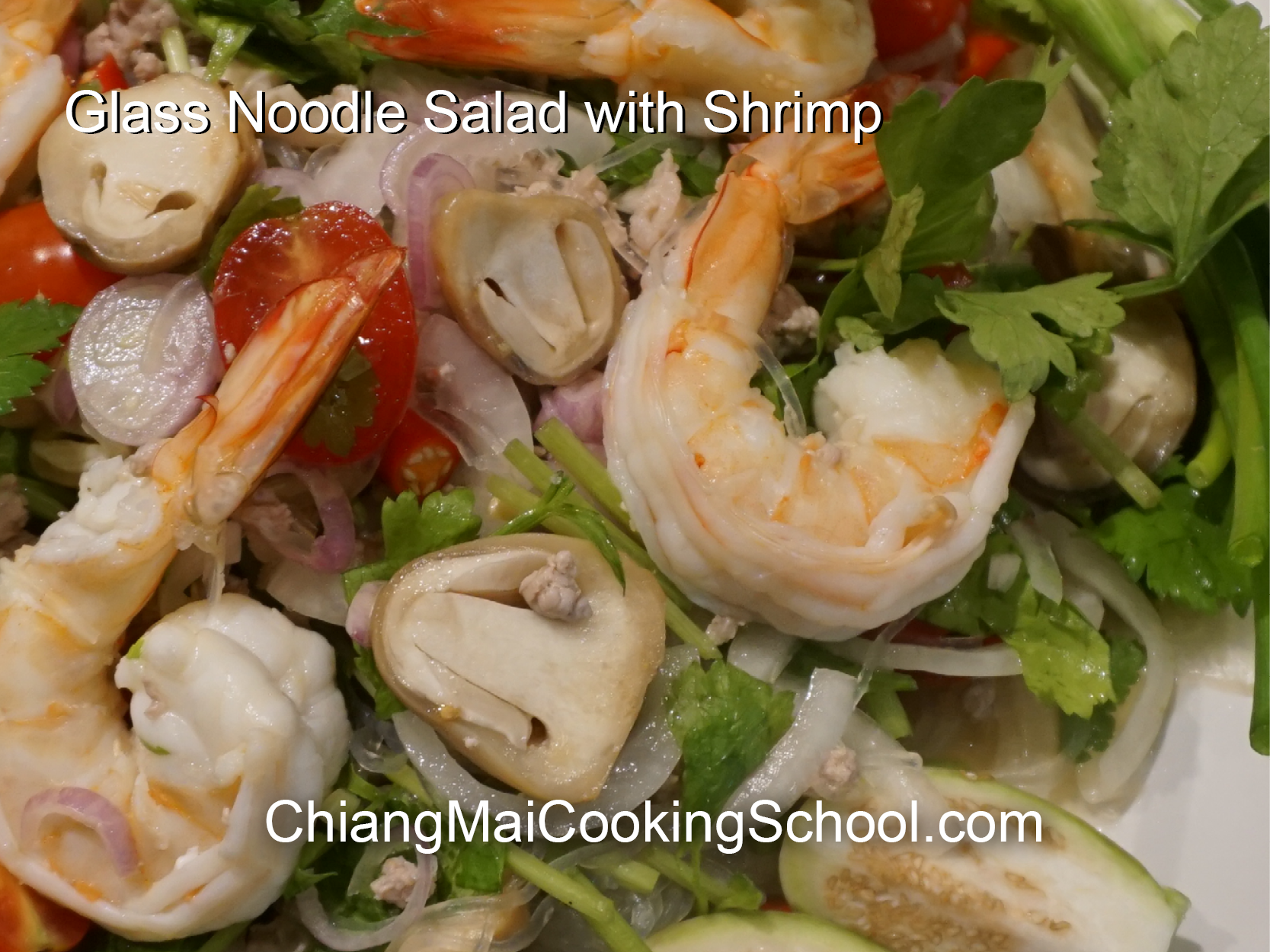 Delicious Glass Noodle Salad from Chiang Mai Cooking School