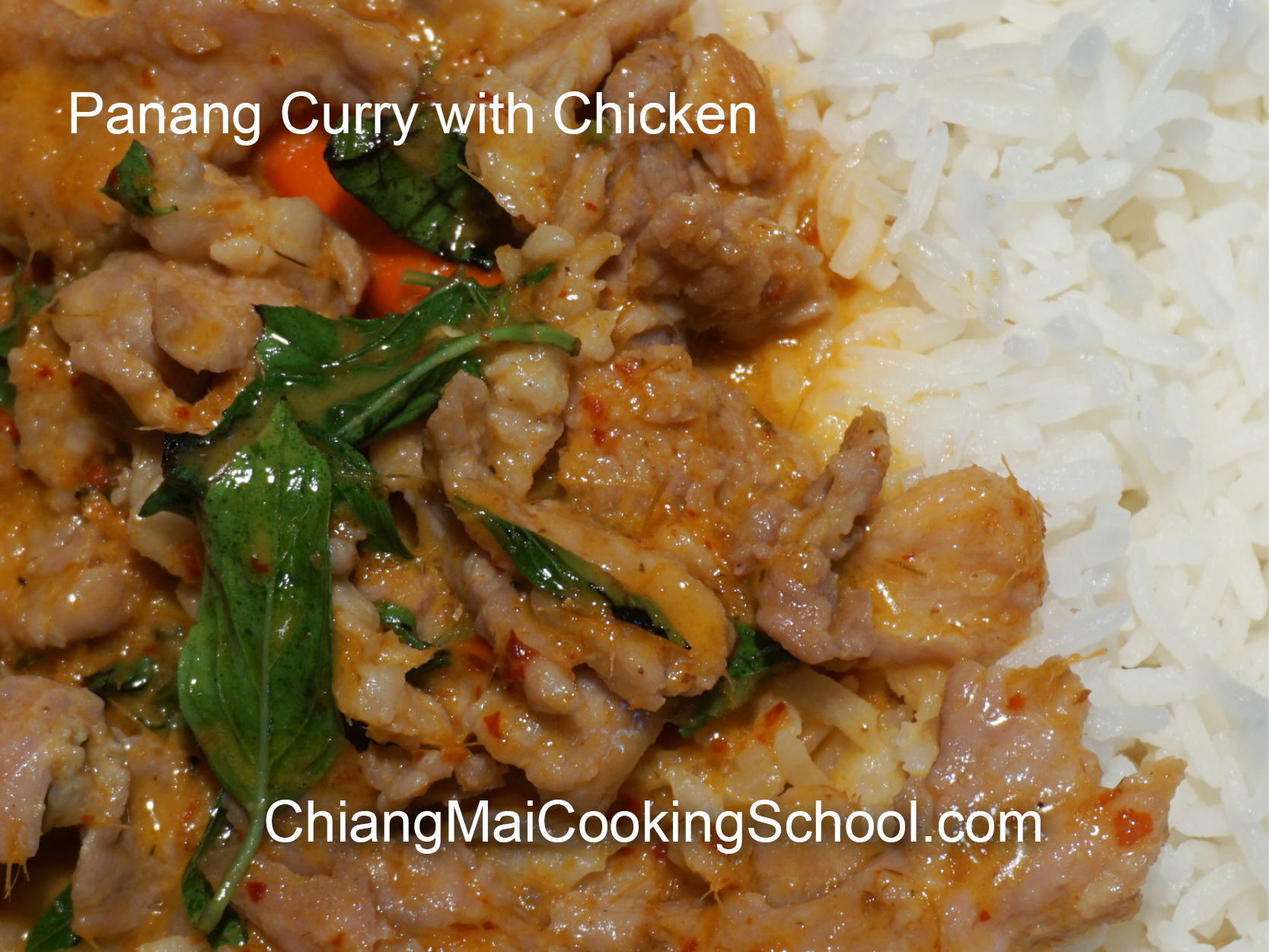Delicious Chicken Panang Curry from Chiang Mai Cooking School